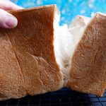 Japanese fluffy white bread loaf – Shokupan
