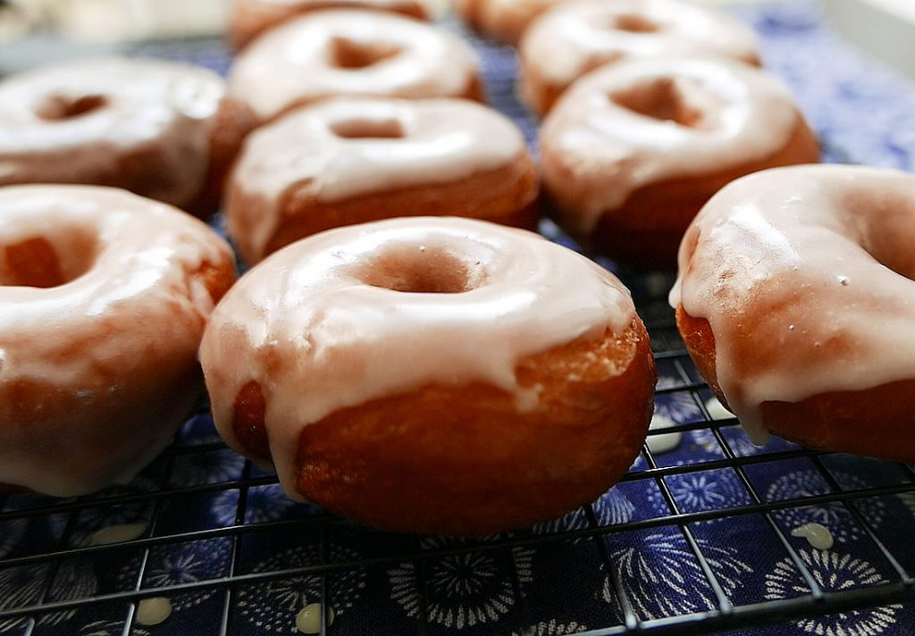 Mochi donuts with glutinous rice flour