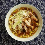 Homemade soy sauce (shoyu) ramen