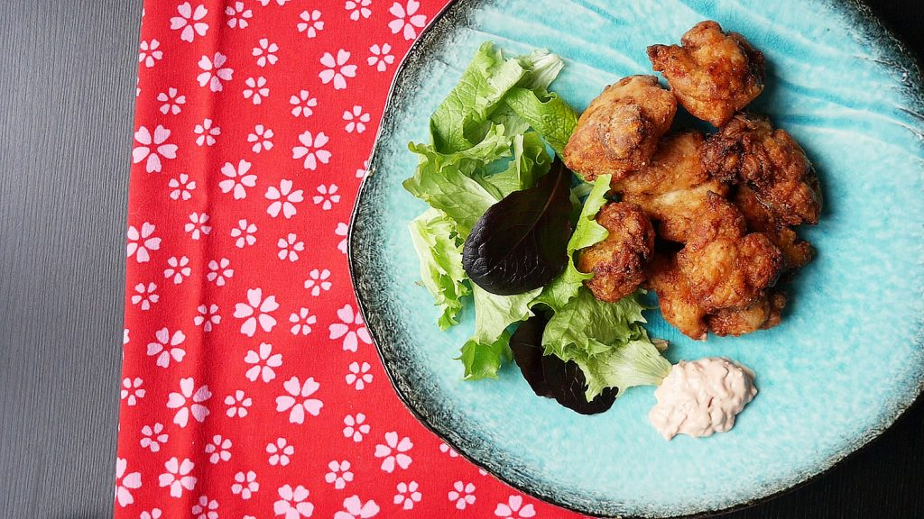 Tatsuta-age deep fried marinated chicken