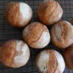 Crusty mini hard bread (petit pain)
