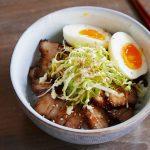 Char siu donburi Rice bowl